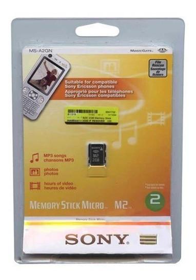 Cartão De Memória Sony Stick M2 2gb