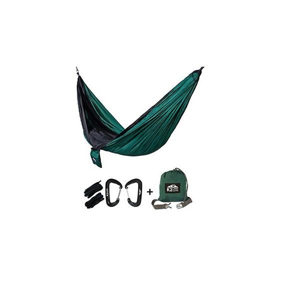 K2 Camp Gear - Hamaca De Camping Doble Original - Mosquetone