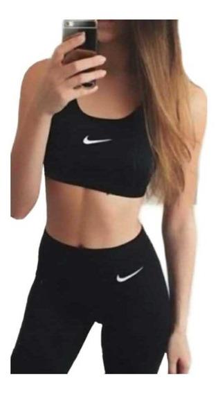 Conjunto Nike Calza + Top Importado Talle S M L Xl