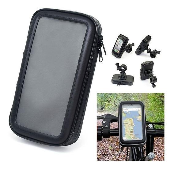 Suporte Case Celular Impermeável P/ Moto Bike Bicicleta Gps