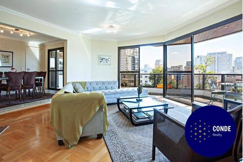 Apartamento Para Comprar Ou Alugar Com 4 Quartos Em Moema - Ap23544