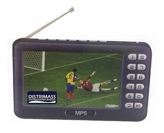 Mini Televisor Portatil Recargable Con Antena Digital