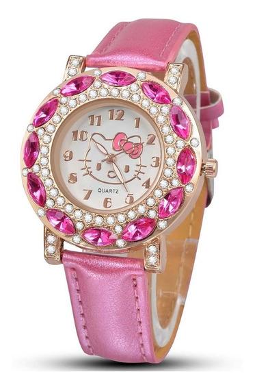 Relógio De Pulso Infantil Hello Kitty Feminino Adulto