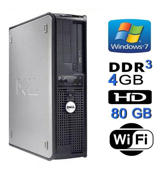 Computador Desktop Cpu Usado Dual Core 4gb Ddr3 Hd 80gb