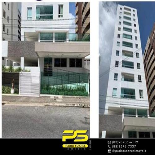 (oportunidade)  Apartamento Com 2 Dormitórios À Venda, 42 M² Por R$ 289.000 - Cabo Branco - João Pessoa/pb - Ap4181