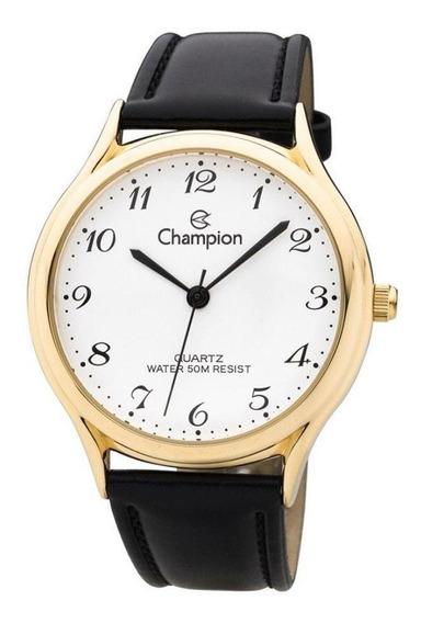Relógio Champion Feminino Pulseira De Couro Cn22233m