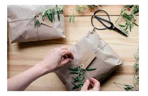 Imagem 1 de 4 de 3 Papel Semi Kraft Bobina 45cm Envelopamento Embalagem 1,5kg