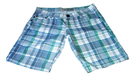 Pantalon Corto Short Bermuda Cuadriculado Marca Jeandale
