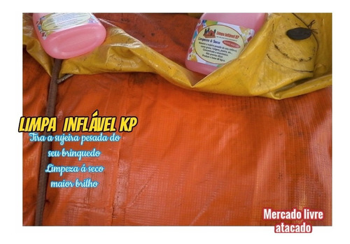 Imagem 1 de 10 de Limpa Brinquedos Infláveis Kp1000 Kit C/03 Borrifador 500ml