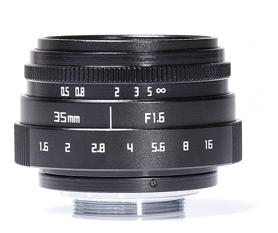 Lente M4/3 35mm Mft F1.6 Para Panasonic Gh5 Blackmagic 4k