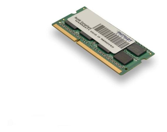 Memoria Ram 4gb Patriot Signature Pc3-10600 (1333 Mhz) Ddr3 Sodimm Psd34g13332s