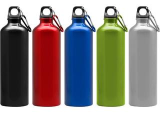 Botella De Aluminio 750ml Con Mosquetón