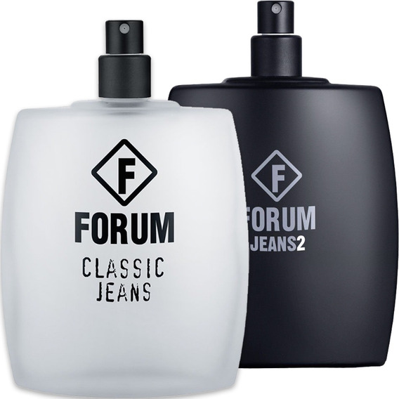 Kit Perfumes Forum Classic Jeans 100ml + Forum Jeans2 100ml