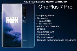 One Plus 7 Pro 12gb De Ram E 256gb Interno Azul (n.o.v.o)