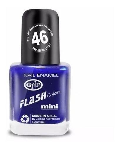 Imagen 1 de 4 de Esmalte Flash Colors De Gnp 9ml Nro.46 Azul Intenso