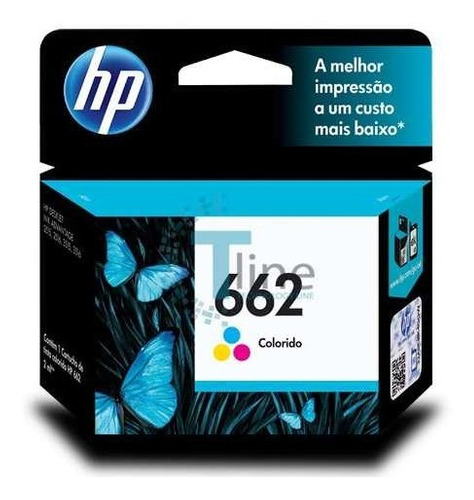 Imagen 1 de 6 de Cartucho Tinta Hp 662 Color Original P/ 2515 3515 En Caja