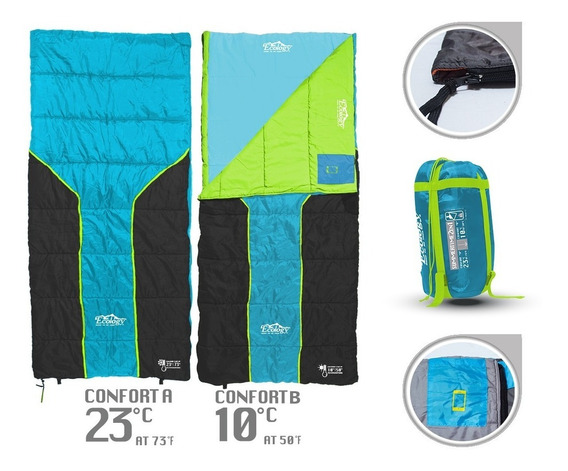 Sleeping Bag Bolsa De Dormir 2 En 1 Ecology 23ºc / 10ºc