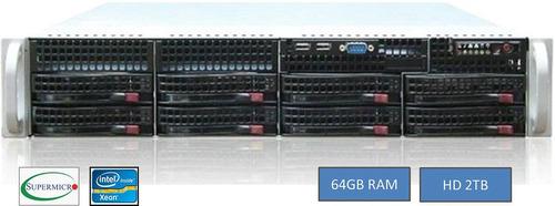 Servidor Supermicro Intel Xeon E5-2620 64gb Hd 4tb 2 Fontes
