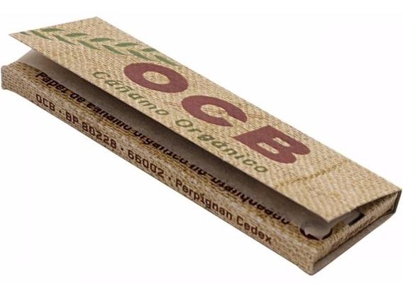 Papel Ocb Cañamo Organico No Blanqueado Ecologico X 10 Unid