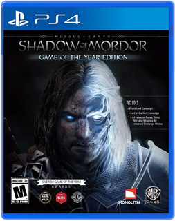 Middle Earth Shadow Of Mordor Game Of The Year Edition / Ps4