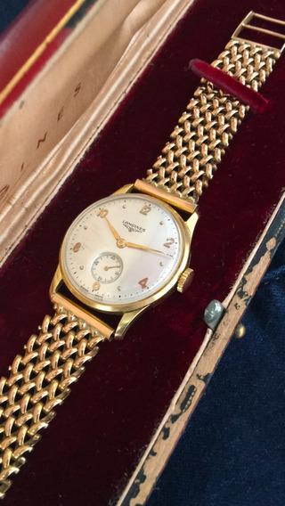 Relógio E Pulseira Em Ouro 18k Longines No Estojo Original