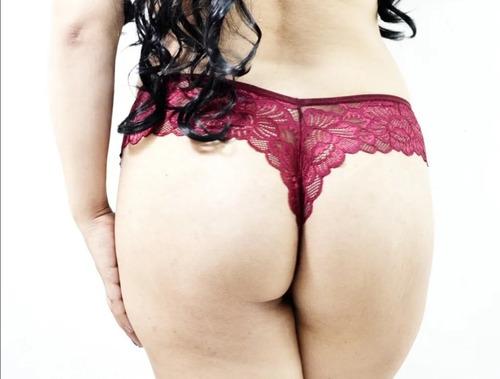 Imagen 1 de 6 de Sexy Tanga En Encaje Corte V Pack De 3 Pzas