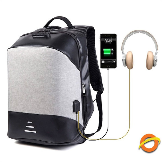 Mochila Antirrobo Notebook Usb Impermeable Anticorte Litros