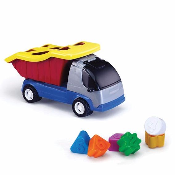 Brinquedo Educativo - Caminhão Caçamba Com Blocos