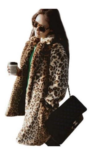 Imagen 1 de 7 de Abrigo De Piel Con Estampado De Leopardo Abrigo De Piel Muje