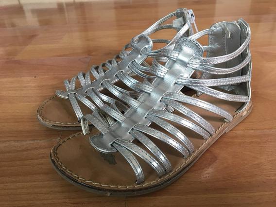 Zapatos Sandalias Plateadas De Niña Old Navy Talla 11 Americ