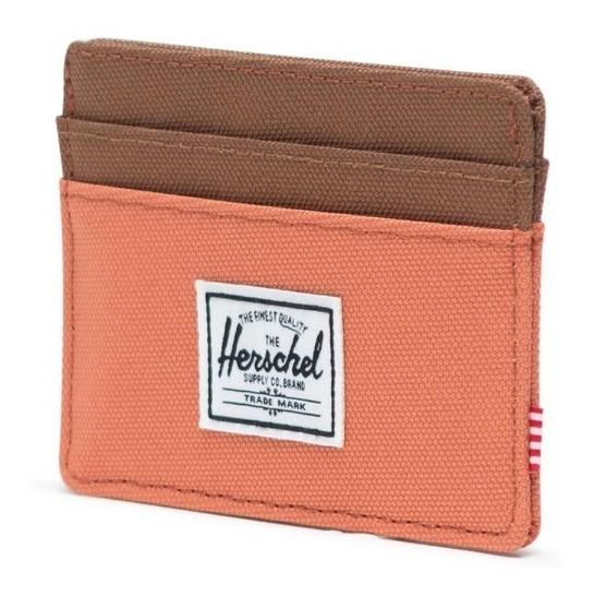 Tarjetero Billetera Herschel Charlie Rfid Naranja/marrón