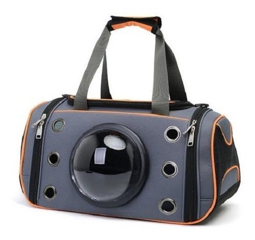 Bolso Transportador Rigido Visor Capsula Para Gatos Perros