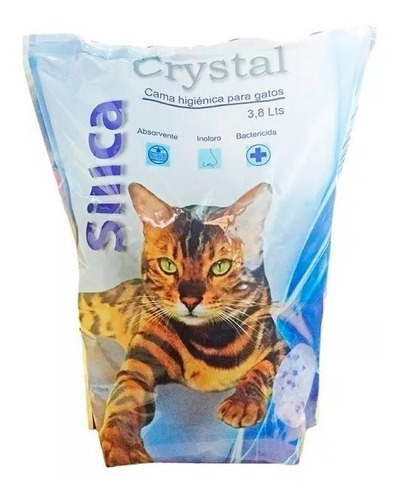 Piedras Sanitarias Gatos Silica Crystal 3.8lts Mascotas