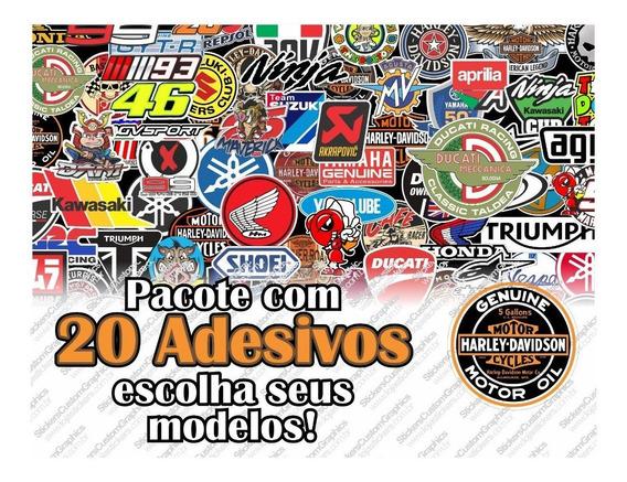 Adesivo Motos Harley Honda Yamaha Ducati Kawasaki 20 Uni