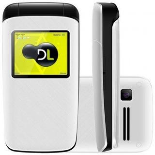 Lote 20 Celular Dl Yc330 Flip Dual Chip Rádio Branco Lacrado