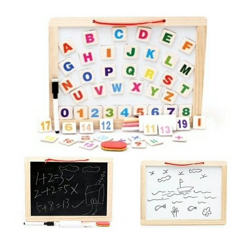 Pizarra Magnética Didáctica Infantil Pizarrón Letras Imán