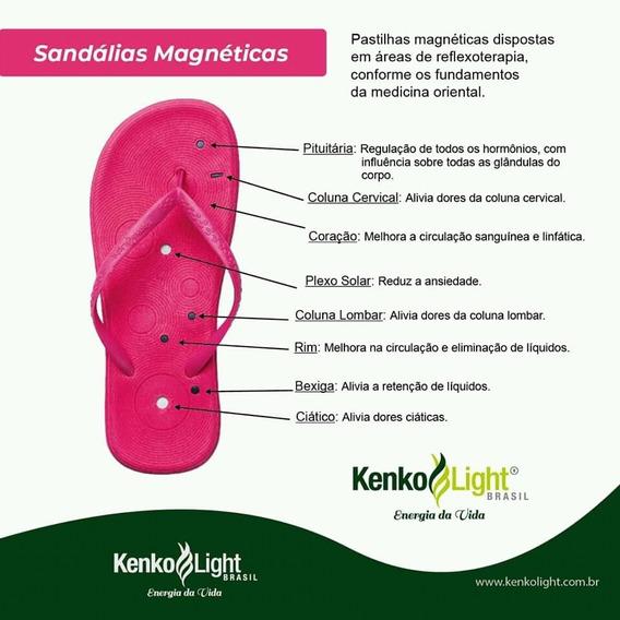 Chinelo Sandálias Magnéticas Infra Vermelho Quântica Kenko L