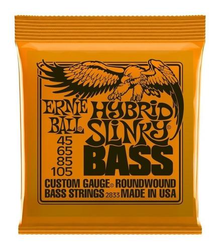 Encordado Ernie Ball 2833 Eb2833 Hybrid Slinky Bass 045-105