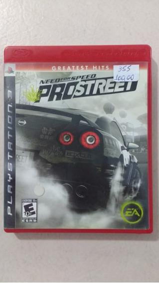 Need For Speed Pro Street Ps3 Mídia Física