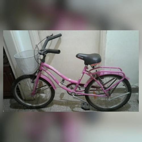Bicicleta Bmx Rodado 20, Color Rosa Con Canasto. Usada