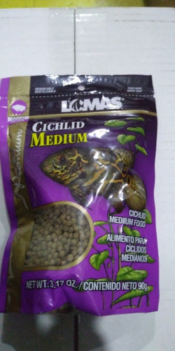 Imagen 1 de 1 de Lomas Alimento Para Ciclidos Medianos 90 Grs Alimento Peces Pecera Acuario