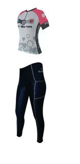 Conjunto Feminino Bike Love Camisa+calça