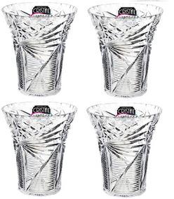 Kit 4 Vaso Decorativo Transparente Xplast