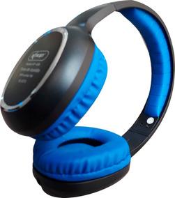 Fone Ouvido Bluetooth Mp3 Sem Fio Cartão Micro Sd Fm Azul