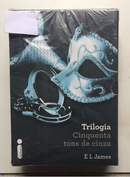 Livro Cinquenta Tons De Cinza Trilogia Box C/ 3 Livros Novos