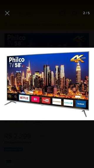 Smart Tv Philco 4k Led 58 Ptv58f60sn Bivolt
