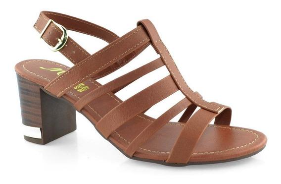 Sandália Com Tiras Salto Médio Grosso 53295 - Cirandinha