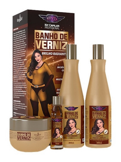 Kit Banho De Verniz - Liga Da Beleza Mary Life