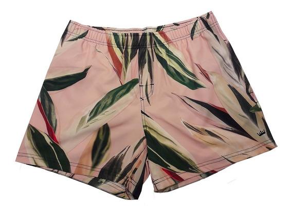 Shorts Osklen Pink Leaf