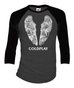 Coldplay Playeras Manga 3/4 Para Hombre Y Mujer